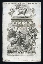 santino incisione 1700 I SETTE SACRAMENTI-SS.GIOV.BATTISTA GIOV.EV goetz-klauber