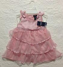 NEW BABY GIRLS CHAPS RALPH LAUREN Pink Ruffle Glitter Dress 18 Months NWT $44