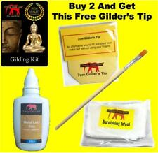Gold Leaf Adhesive 30ml Acrylic Glue Size. Gilding Brush For Silver Copper Metal