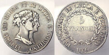 5 Franchi 1806 Felice ed Elisa Principato di Lucca e Piombino Silver R2 BB#3412A