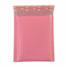 50x Pink Poly Bubble Bag Mailer Plastic Padded Envelope Shipping Bag Packaging