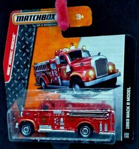 Matchbox 1963 Mack B Model Fire Truck  short Card New 100/120