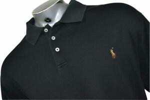 16656-a Polo Ralph Lauren Shirt  Golf Size 3XLT TALL Black RECENT Mens Adult