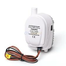 12V Boat  Automatic Submersible Bilge Water Pump 750GPH Auto with Float Switch