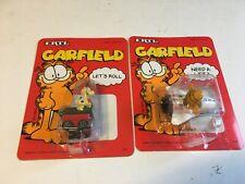 Vintage Ertl Garfield & Odie Diecast Toy Vehicles Space Shuttle Dog House Car