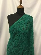 "NEW Emerald Green Floral Ribbon Lace Fabric 60"" 152cm Cloth Material Art Craft"