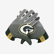 Size XXL 2X Nike NFL Green Bay Packers Stadium Football Gloves Lightweight Adult