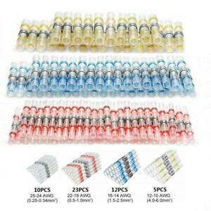 50 Pcs Heat Shrink Solder Seal Wire Connectors Crimp Butt Terminals U1P1
