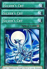 Silver's Cry 1st X 3 Mint Common YU-GI-HI! SDBE