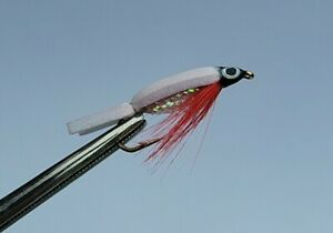 3 x WHITE FRITZ FLOATING FRY. SMALL FISH IMITATION. Size 8. Trout fly fishing.