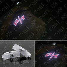 2x Red R/T Logo LED Door Shadow Projector lights For Dodge Challenger 2008-2019