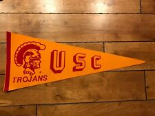"""VINTAGE 1970'S USC Southern California Trojans Football Full Size 30"""" Pennant"""