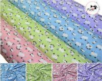Sheep Premium Printed 100% Cotton Fabric High Quality 150 cm Wide, 4 Colours