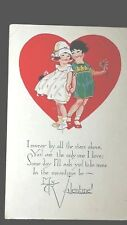 Vintage Valentine Post Card I swear by all the stars above You are the only one