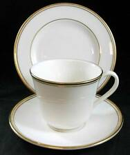 Royal Doulton OXFORD GOLD Trio Bread Plate + Cup & Saucer TC1225 SHOWROOM ITEMS