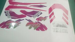 Yamaha TY 250 Pinky Complete Decal Set MX Quality Materials
