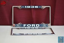 1935 Ford Car Pick Up Truck Front Rear License Plate Holder Chrome Frames New