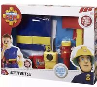Fireman Sam Utility Belt with Jacket and Accessories-New