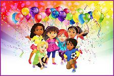 Dora et ses Amis  Decoration Gateau Disque Azyme Comestible Anniversaire