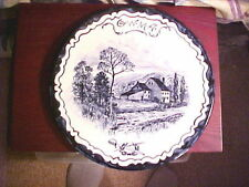 VOLKMAR & CORY , HND PTED BLUE UNDERGLAZE PLAQUE, COMM. of GWMA & VALLEY FORGE