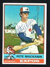 Pete Mackanin #287 signed autograph auto 1976 Topps Baseball Trading Card