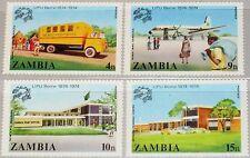 ZAMBIA SAMBIA 1974 133-36 127-30 Cent. Universal Post Union UPU Truck Plane MNH