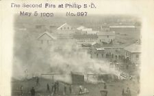 """The Second Fire At Philip SD, May 5, 1909"" RPPC"