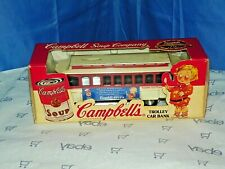 VINTAGE CAMPBELL'S SOUP COMPANY, ERTL TROLLEY CAR BANK, DIECAST  METAL #0515