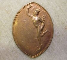 1 Rare Vintage Medal, Mercury or Hermes Brass Stamping; Made in France, 34mm