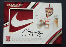 2017 Immaculate Christian McCaffrey #5/5 Rookie Auto Nike Swoosh Patch RPA 1/1