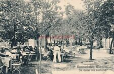 Ak, Sommerfrische Ullersdorf, Im Garten des Gasthofes (G)19279
