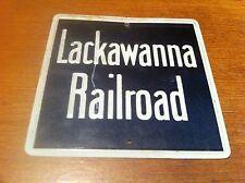 OLD LACKAWANNA RAILROAD METAL TRAIN SIGN TRAINS SIGNS! FREE SHIPPING!!