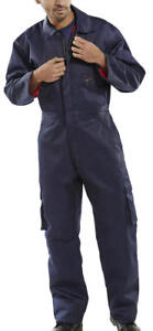"""Click Heavyweights Navy insulated quilted workwear coverall size 52"""" 132cm chest"""