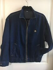 VTG 80s Cherokee Dark Denim Jean/jeans Jacket Talon Zipper Zip-Up Women's L