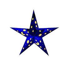 Faltstern Papierstern Andromeda ❀ Leuchtstern Nacht Blau 60 cm mit Sternen