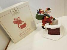 Santa Chimney Figurine Limited Ed RARE Special Delivery Chimney HALLMARK 1987