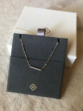 Kendra Scott 14K Gold Pendant Necklace With White Diamonds