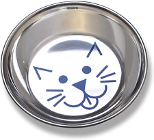 Van Ness Cat Dish Food Feeding Bowl Water Feed For Drinking Tray Stainless Steel