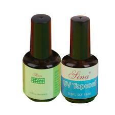 No Burn Acrylic Primer & Clear UV Gel Topcoat Nail Art Gloss Finish Hardener
