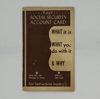 Your Social Security Account Card Instructions Vintage 1946 Pamphlet Ephemera