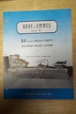 """Vtg Boye & Emmes Machine Tool Co Brochure~Model  E 25"""" Lathe~Catalog"""