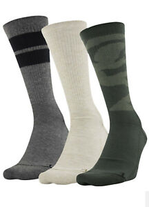 "Under Armour Phenom ""Out Post Green"" Graphic Crew Socks 3-Pair $1.99 SHIPPING"