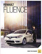 Renault Fluence 01 / 2013 catalogue brochure czech tcheque