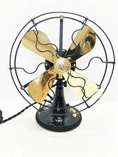 "vintage antique1920's 9"" GE Whiz  Stationary Electric Fan Brass Blade Restored"