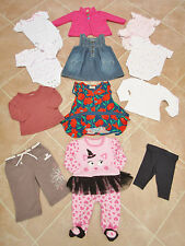 12 X Items Baby Girls Mixed Wardrobe Clothes Bundle - 3/6 Months
