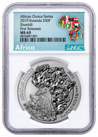 2019 Rwanda African Ounce Shoebill 1 oz Silver NGC MS69 FR Exclusive SKU56553