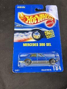 Hot Wheels Mercedes 380 SEL Blue Metal Flake Paint 184