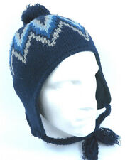 Warm Winter Beanie Knit Fur Bobble Toggle Ear Cover Trapper Ski Hat 1-Size