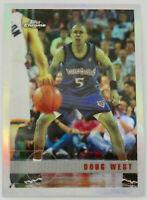 1997-98 TOPPS CHROME BASKETBALL Doug West Refractor Card #162 NM Timberwolves