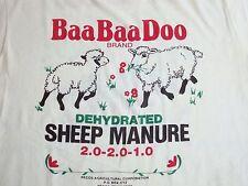 Vintage Baa Baa Doo Sheep Manure Funny Farm rap Punk Rock grunge T Shirt M